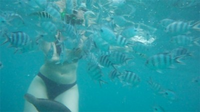 Dana with fishes